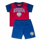 Костюм (футболка + шорты) Россия, красно-синий